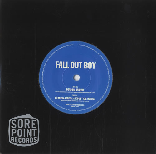 Fall Out Boy Dead On Arrival Uk 7 Quot Vinyl Single 7 Inch
