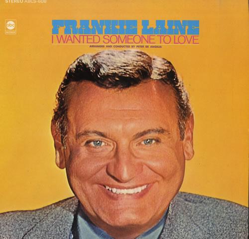 Frankie Laine I Wanted Someone To Love Us Vinyl Lp Album