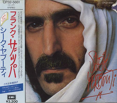 frank zappa sheik yerbouti japanese promo cd album cdlp