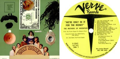 Frank Zappa We Re Only In It For The Money Yellow Label