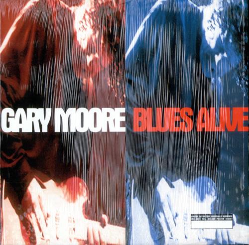 Gary Moore Blues Alive Uk 2 Lp Vinyl Record Set Double