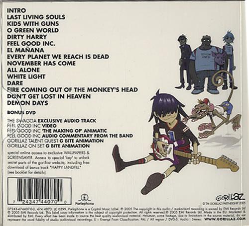 Gorillaz Demon Days Uk 2 Disc Cd Dvd Set 324086