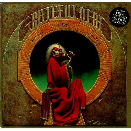 Grateful Dead Blues For Allah Poster Uk Vinyl Lp Album