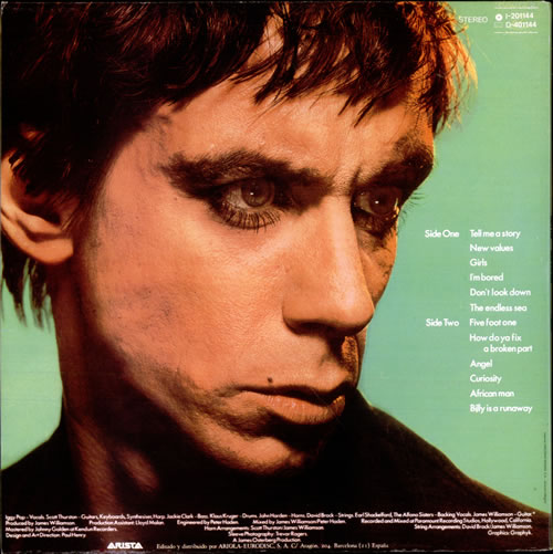 Iggy Pop New Values Nuevos Valores Spanish Vinyl Lp