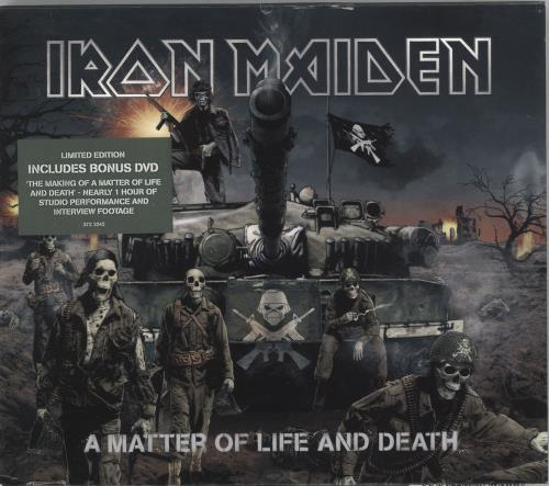 Iron Maiden A Matter Of Life And Death UK 2-disc CD/DVD set (368625)
