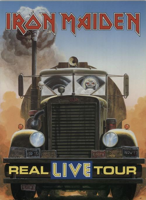 Iron Maiden Real Live Tour Ticket Stub Uk Tour Programme
