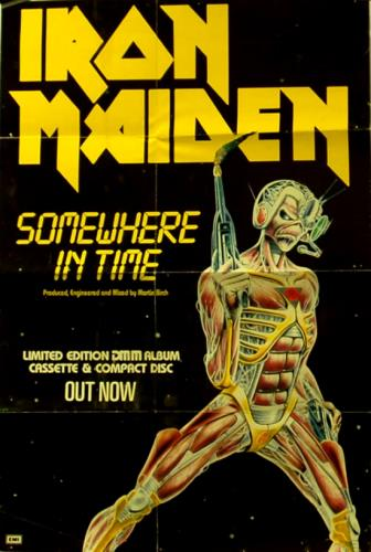 Iron Maiden Somewhere In Time - Instore Poster UK Promo ...