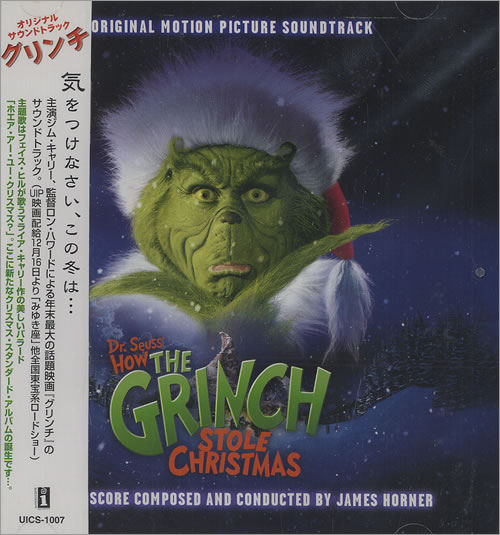 James Horner Dr. Seuss' How The Grinch Stole Christmas Japanese ...