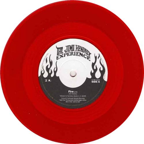 jimi hendrix fire red vinyl record store day uk 7 vinyl single 7 inch record 582522. Black Bedroom Furniture Sets. Home Design Ideas