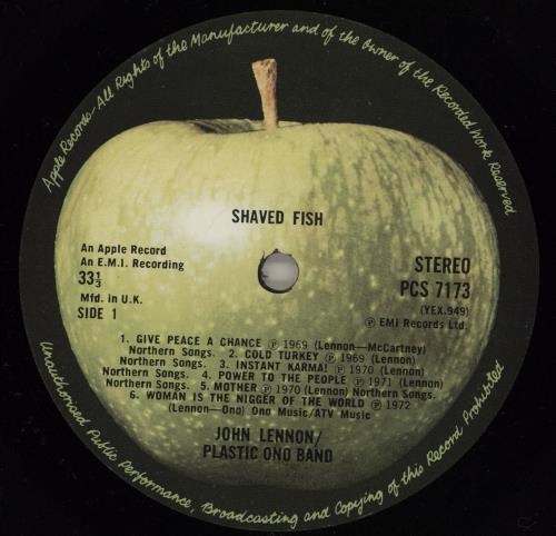 John lennon shaved fish 1st uk vinyl lp album lp record for John lennon shaved fish