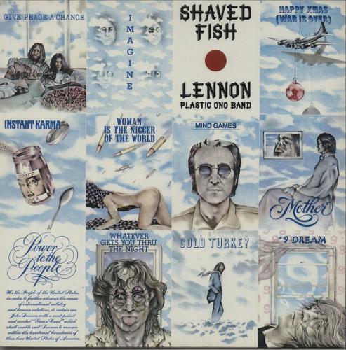 John lennon shaved fish 1980s uk vinyl lp album lp for John lennon shaved fish