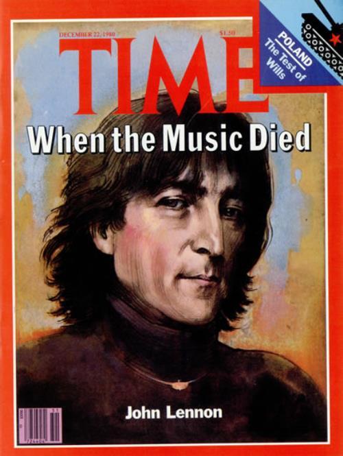 John Lennon Time Magazine December 1980 Us Magazine