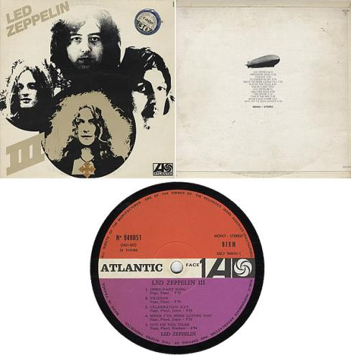Led Zeppelin Led Zeppelin Iii 1st French Vinyl Lp Album