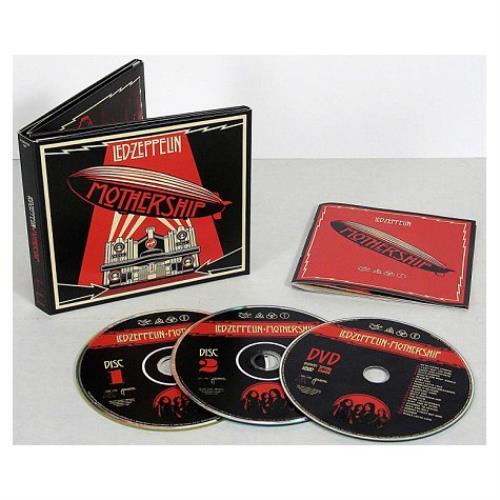 Led Zeppelin Mothership The Very Best Of Uk 3 Disc Cd Dvd