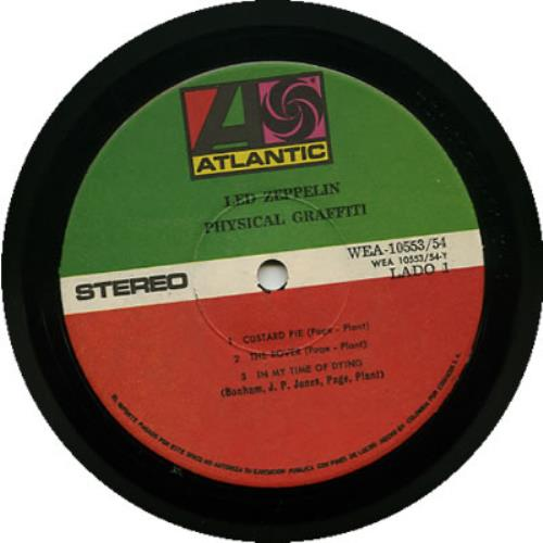 Led Zeppelin Physical Graffiti Colombian 2 Lp Vinyl Record