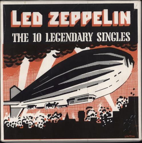 Led Zeppelin The 10 Legendary Singles New Zealand Box Set