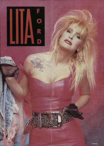 Lita Ford Hungry Poster Uk 12 Quot Vinyl Single 12 Inch