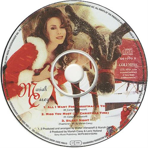 Mariah Carey All I Want For Christmas Is You UK CD single (CD5 / 5 ...