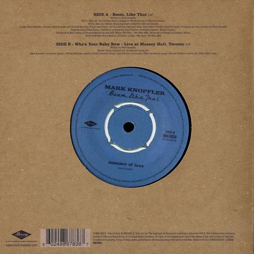 Mark Knopfler Boom Like That Misprint Label Uk 7 Quot Vinyl