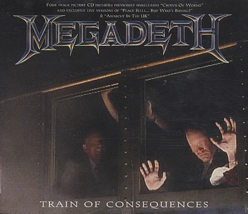 Megadeth Train Of Consequences Uk Cd Single Cd5 5 Quot 39246