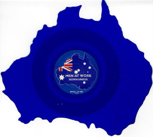 Men At Work Down Under Uk Shaped Picture Disc Picture