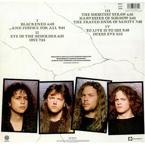 metallica and justice for all dutch 2lp vinyl record