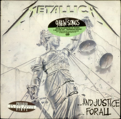 metallica and justice for all gold promo stamped stickered us promo 2 lp vinyl record set. Black Bedroom Furniture Sets. Home Design Ideas