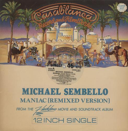 Michael Sembello Maniac UK 12u0026quot; vinyl single (12 inch ...