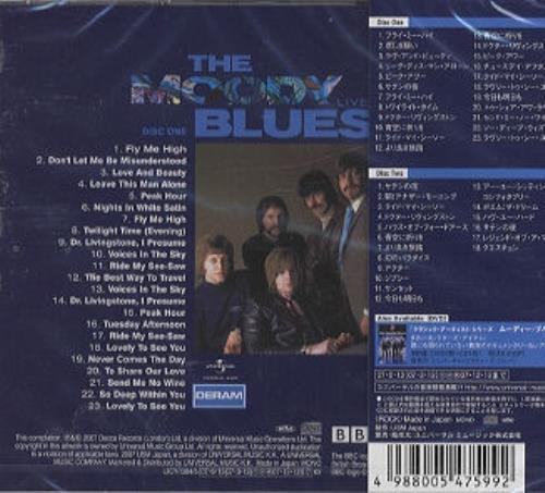 Moody Blues Live At The Bbc 1967 1970 Japanese 2 Cd Album