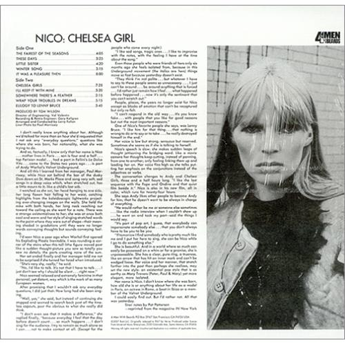 Nico Chelsea Girl Us Vinyl Lp Album Lp Record 420674