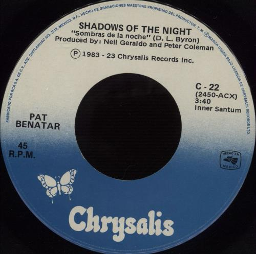 pat benatar shadows of the mexican 7 quot vinyl single 7 inch record 666567