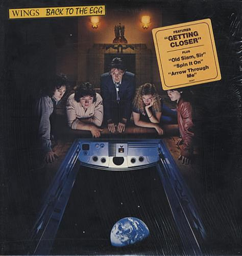 Paul Mccartney And Wings Back To The Egg Stickered