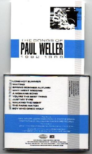 Paul weller the songs of paul weller 1982 1988 uk promo cd for Songs from 1988 uk