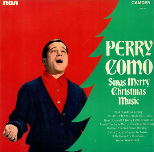Perry Como Sings Merry Christmas Music UK vinyl LP album (LP record) (495771)