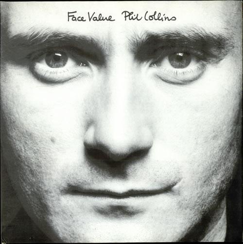 Αποτέλεσμα εικόνας για FACE VALUE-Phil Collins vinyl cover