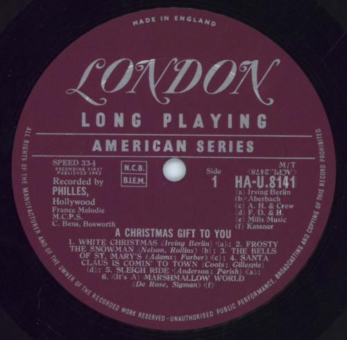 Phil Spector A Christmas Gift For You - EX UK vinyl LP album (LP ...