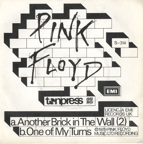 "The Wall Pink Floyd: Pink Floyd Another Brick In The Wall Polish 7"" Vinyl"