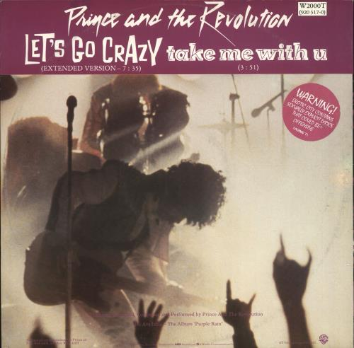 Prince Let S Go Crazy Uk 12 Quot Vinyl Single 12 Inch Record
