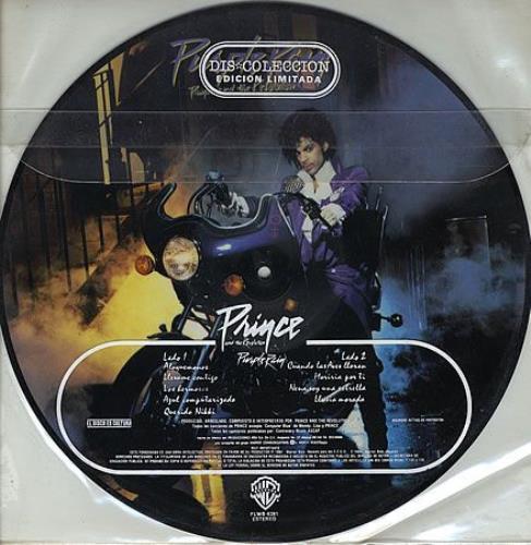 Prince Purple Rain Mexican Picture Disc Lp Vinyl Picture
