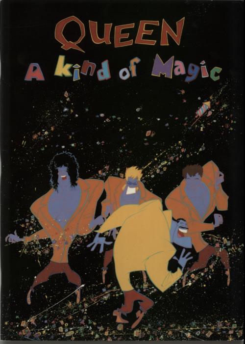Queen A Kind Of Magic + Ticket Stub, Poster & Postcard tour programme UK QUETRAK91119