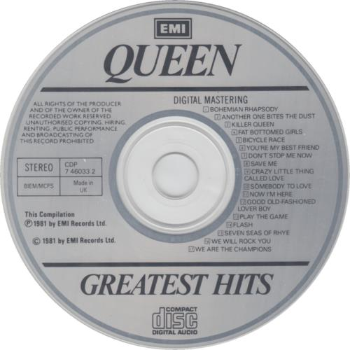 Queen Greatest Hits Uk Cd Album Cdlp 646257