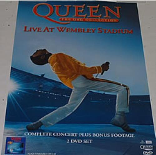 Queen Live At Wembley Stadium - The DVD Collection poster UK QUEPOLI256776