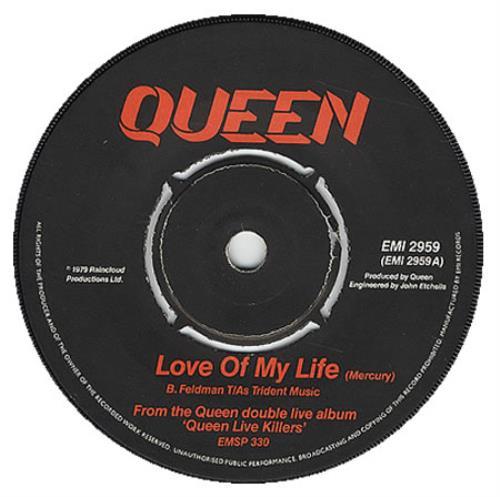 queen love of my life uk 7 vinyl single 7 inch record 90088. Black Bedroom Furniture Sets. Home Design Ideas