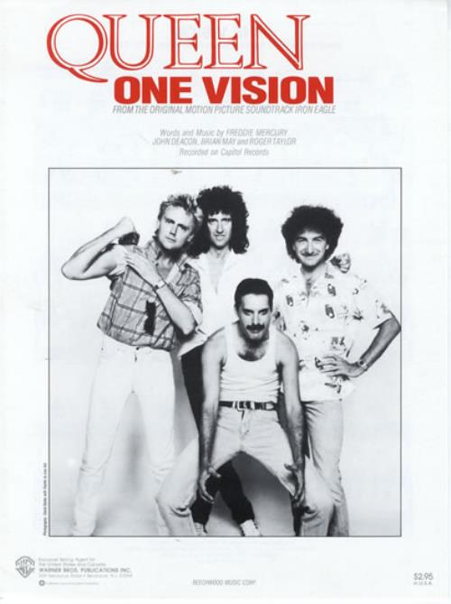 Queen One Vision Us Sheet Music 577927 Vs4503
