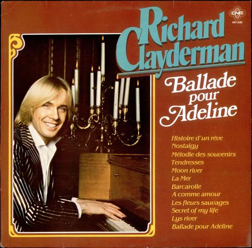 richard clayderman ballade pour adeline french vinyl lp album lp record 510105. Black Bedroom Furniture Sets. Home Design Ideas