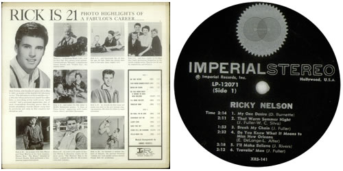 Ricky Nelson Rick Is 21 Original Stereo Pressing Us