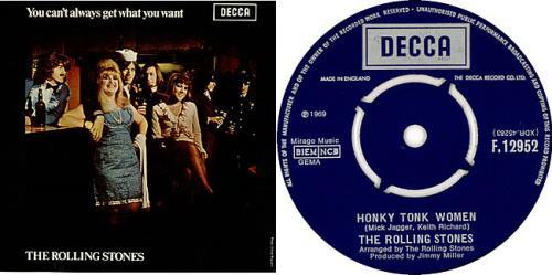 Rolling Stones Honky Tonk Women Export Picture Sleeve Uk