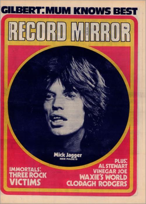 Rolling Stones Record Mirror Uk Magazine 498519 Magazine