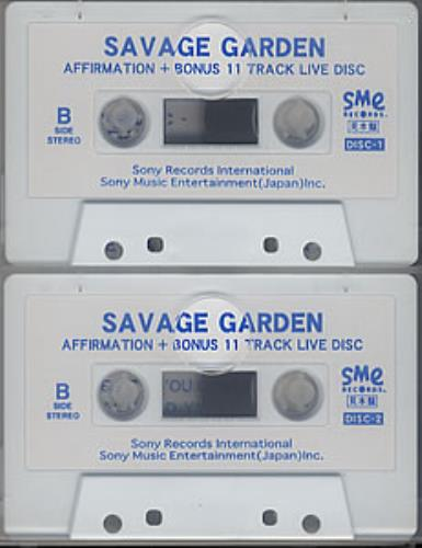 Savage Garden Affirmation Double Cassette Japanese SGD2KAF200643