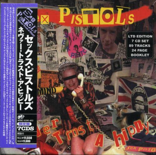 sex pistols never trust a hippy poster